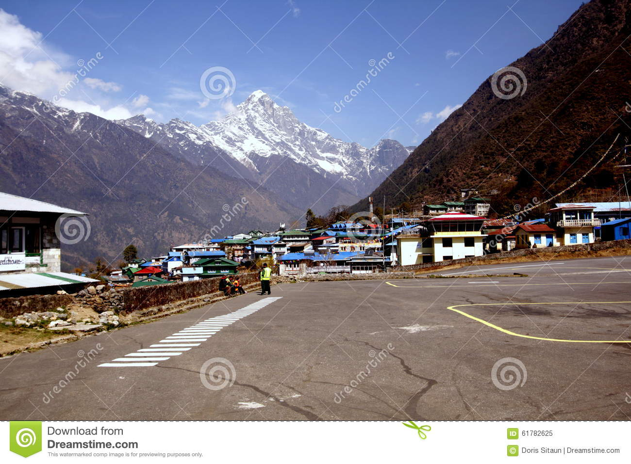 Lukla Airport Nepal Stock Photos, Images, & Pictures.