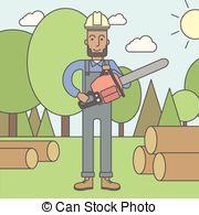 Lumber man Clipart and Stock Illustrations. 770 Lumber man vector.