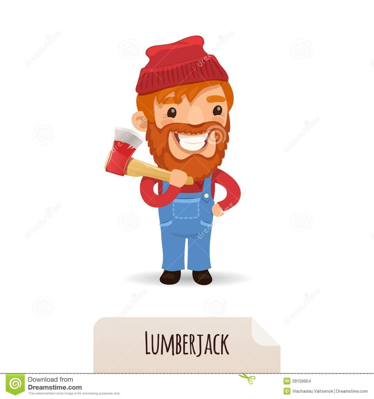 Lumberman Stock Illustrations.
