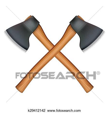 Lumberjack axe Clipart.