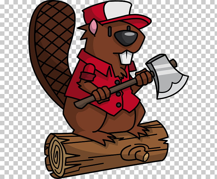 Beaver Lumberjack , Beaver sprout worker PNG clipart.