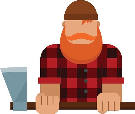 288 Lumberjack free clipart.