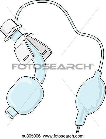 Stock Illustration of Single lumen endotracheal tube. nu305006.