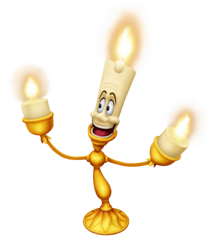 Lumiere Beauty and the Beast Cartoon Transparent Image.