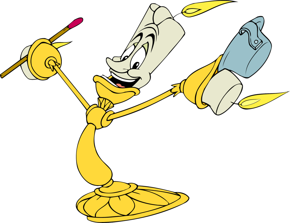 Disney's Beauty And The Beast Character Lumiere Clipart.