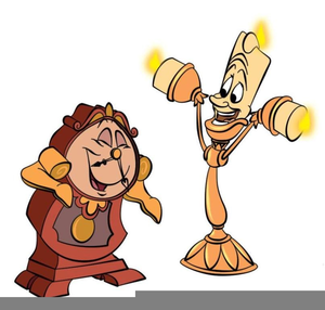 Lumiere And Cogsworth Clipart.