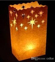 Image result for christmas paper bag luminaries.