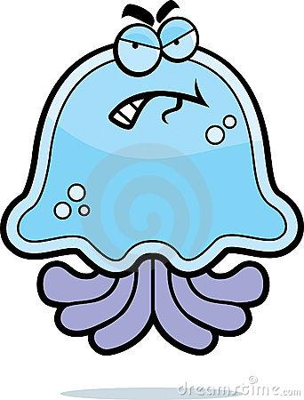 Jellyfish Sting Stock Illustrations.