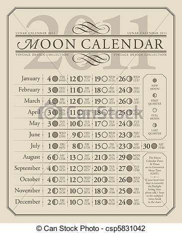 Lunar Calendar Clipart.