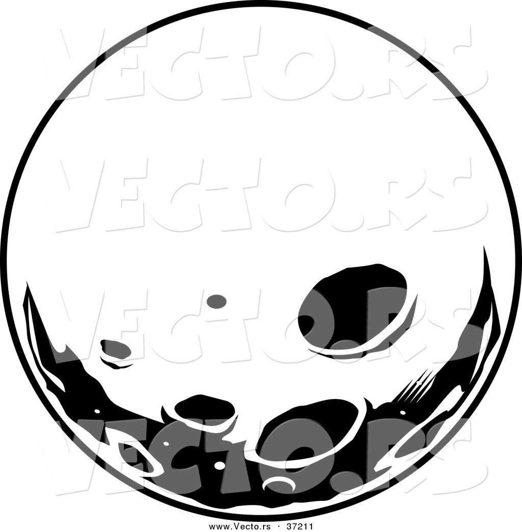 Moon crater clipart.