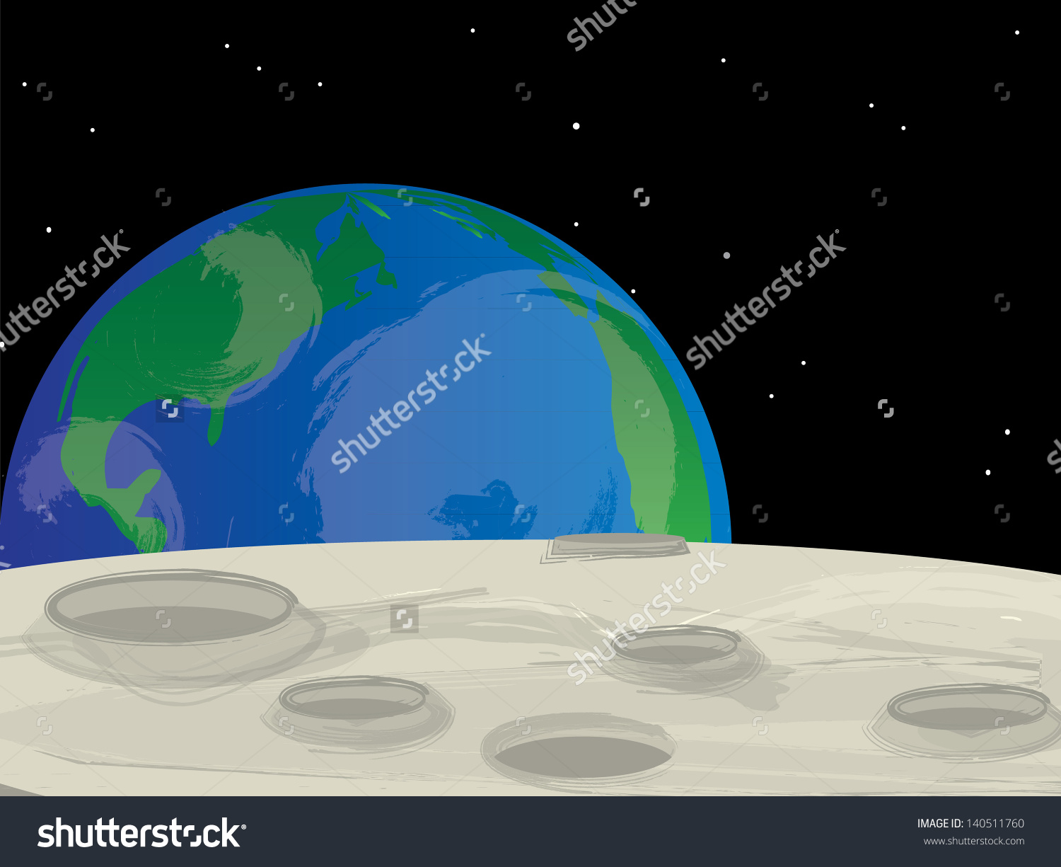 Moon surface clipart.