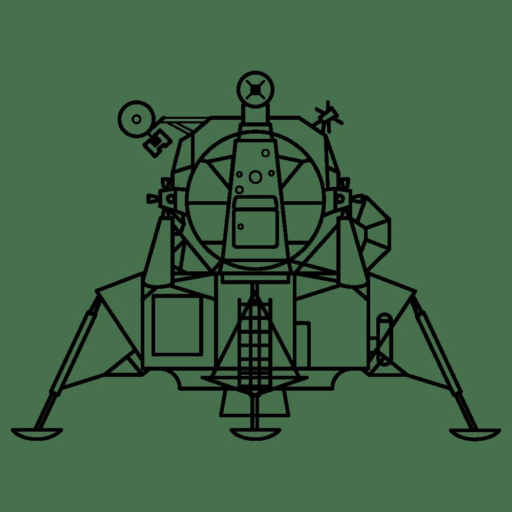Apollo Lunar Module Clipart transparent PNG.