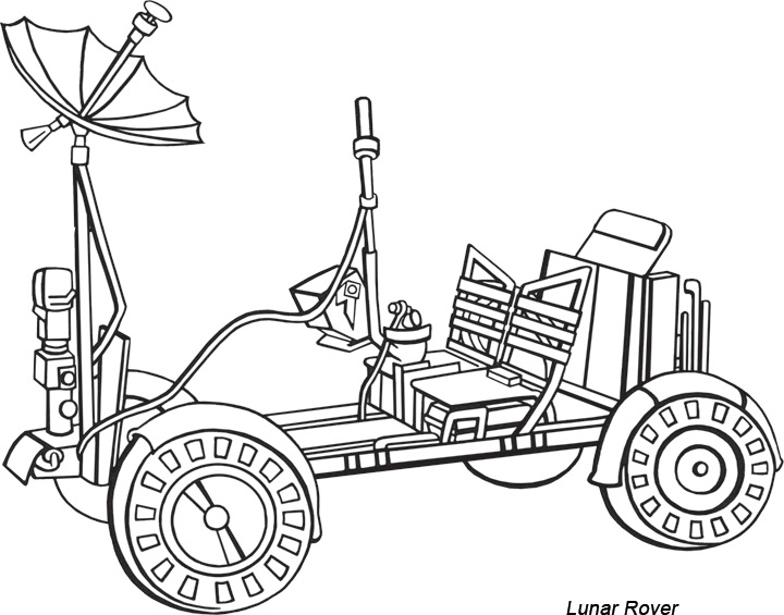 lunar roving vehicle clipart