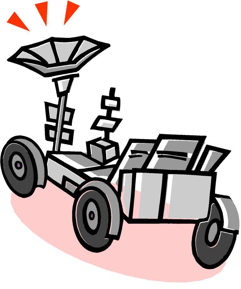 Moon rover clipart.