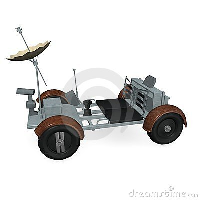 Lunar Rover Royalty Free Stock Photo.
