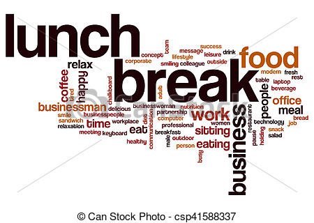 Lunch break word cloud.
