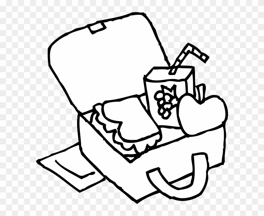 Clip Art Free Library Lunch Box Clipart Black And White.
