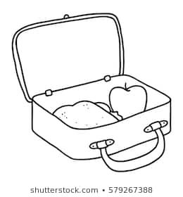 Lunch box clipart black and white 5 » Clipart Portal.