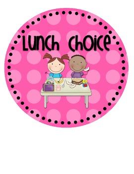Lunch Choice {& Attendance!} Clip Chart.