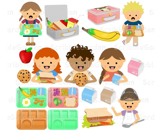 Lunch Items Clipart