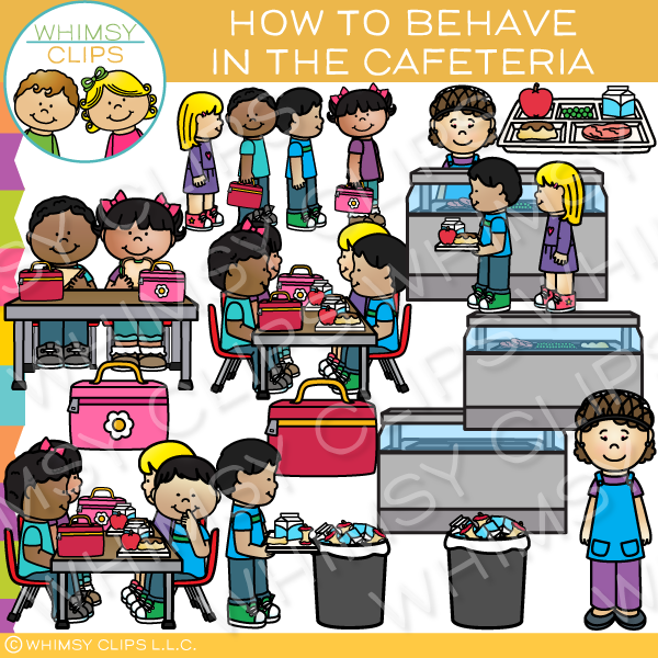 How to Behave in the Cafeteria Clip Art.