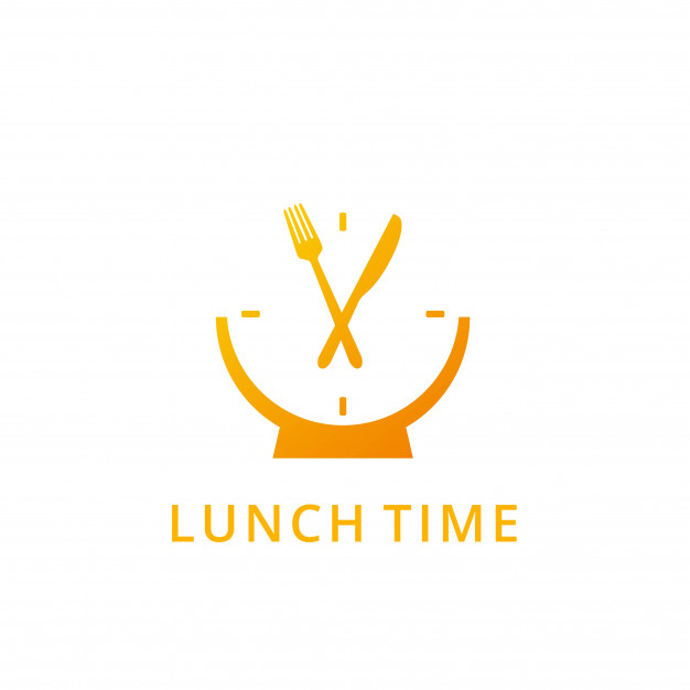 Lunch time logo Vector.