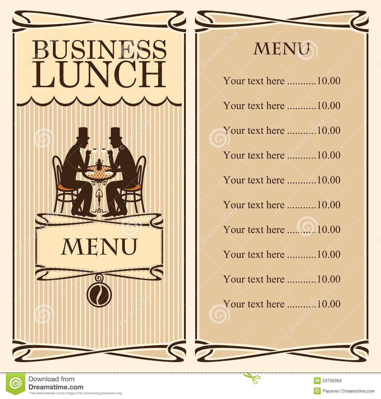 Business Lunch Meeting Clipart.