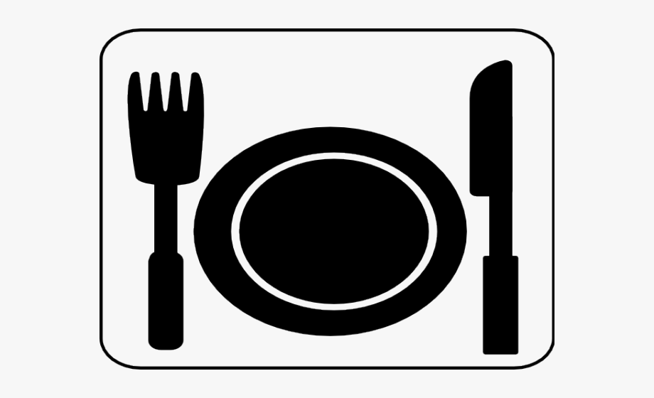 Cutlery Clipart Lunch Plate.