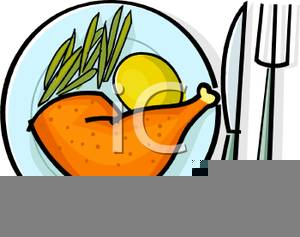 Lunch Plate Clipart.