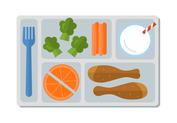 Best Lunch Tray Illustrations, Royalty.