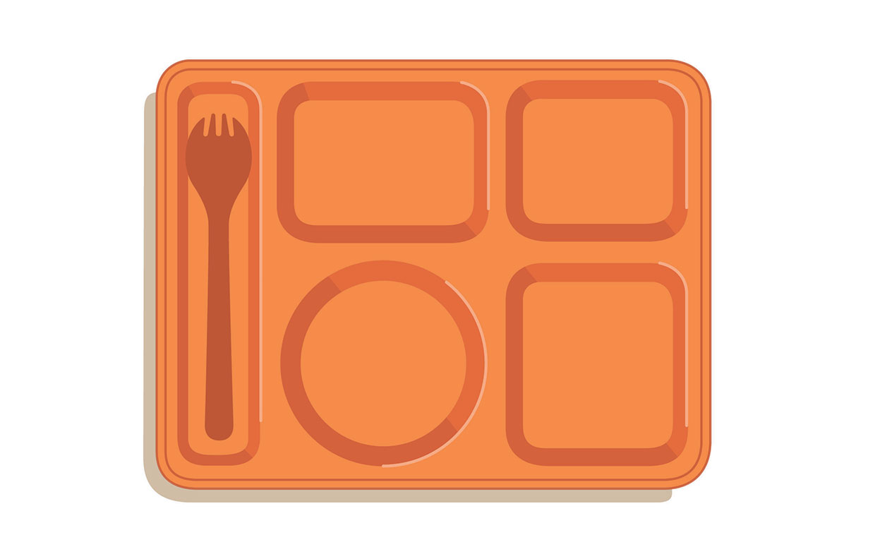 Cafeteria lunch tray clipart.