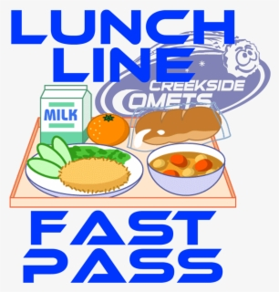 Free School Lunches Clip Art with No Background.