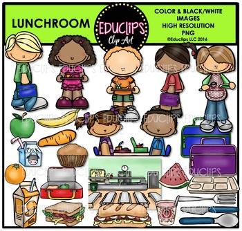 Lunchroom Clip Art Bundle {Educlips Clipart}.