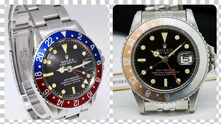 Watch strap Rolex GMT Master II Luneta, watch bezel PNG.
