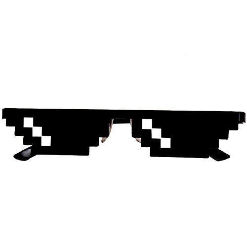 ILOVEDIY Lunette Thug Life Noir Glasses 8 Bit Pixel Deal.