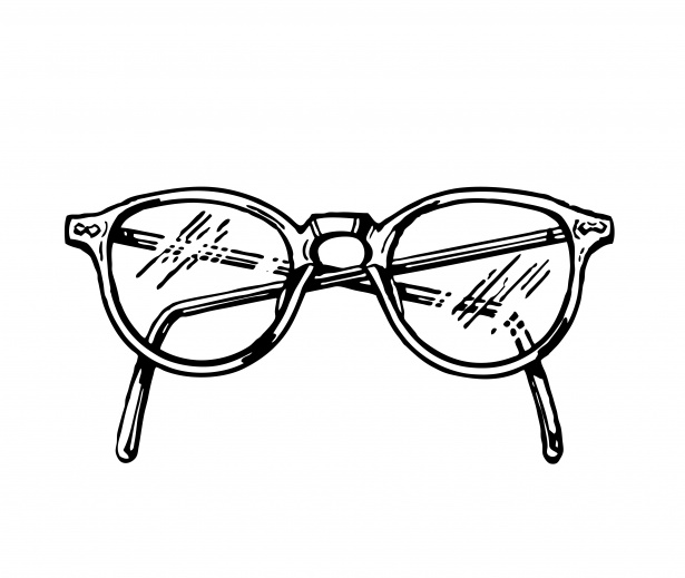 Lunettes Clipart Illustration Photo stock libre.