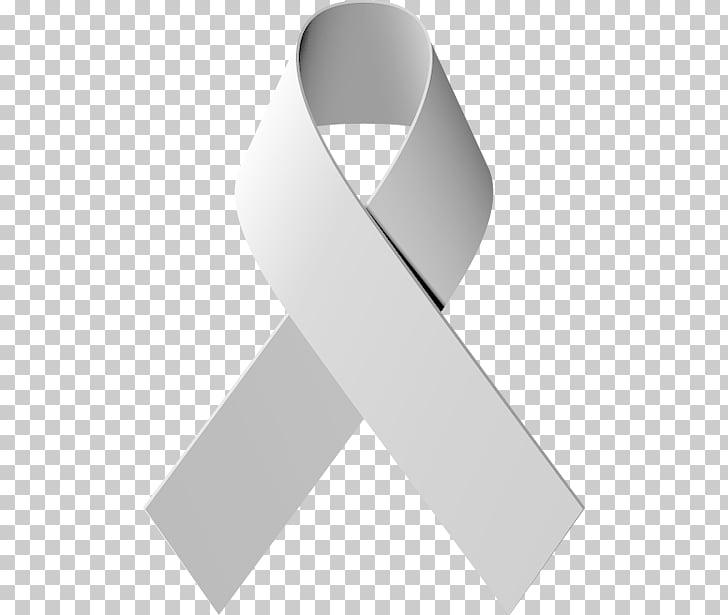 Awareness ribbon Lung cancer, silver ribbon, white awareness.