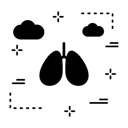 Vector Lungs Icon.