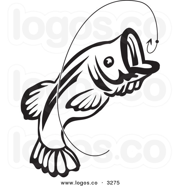Bass fishing lures clipart.