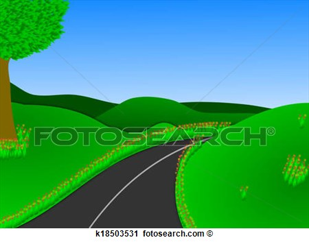 Open Road Clipart.