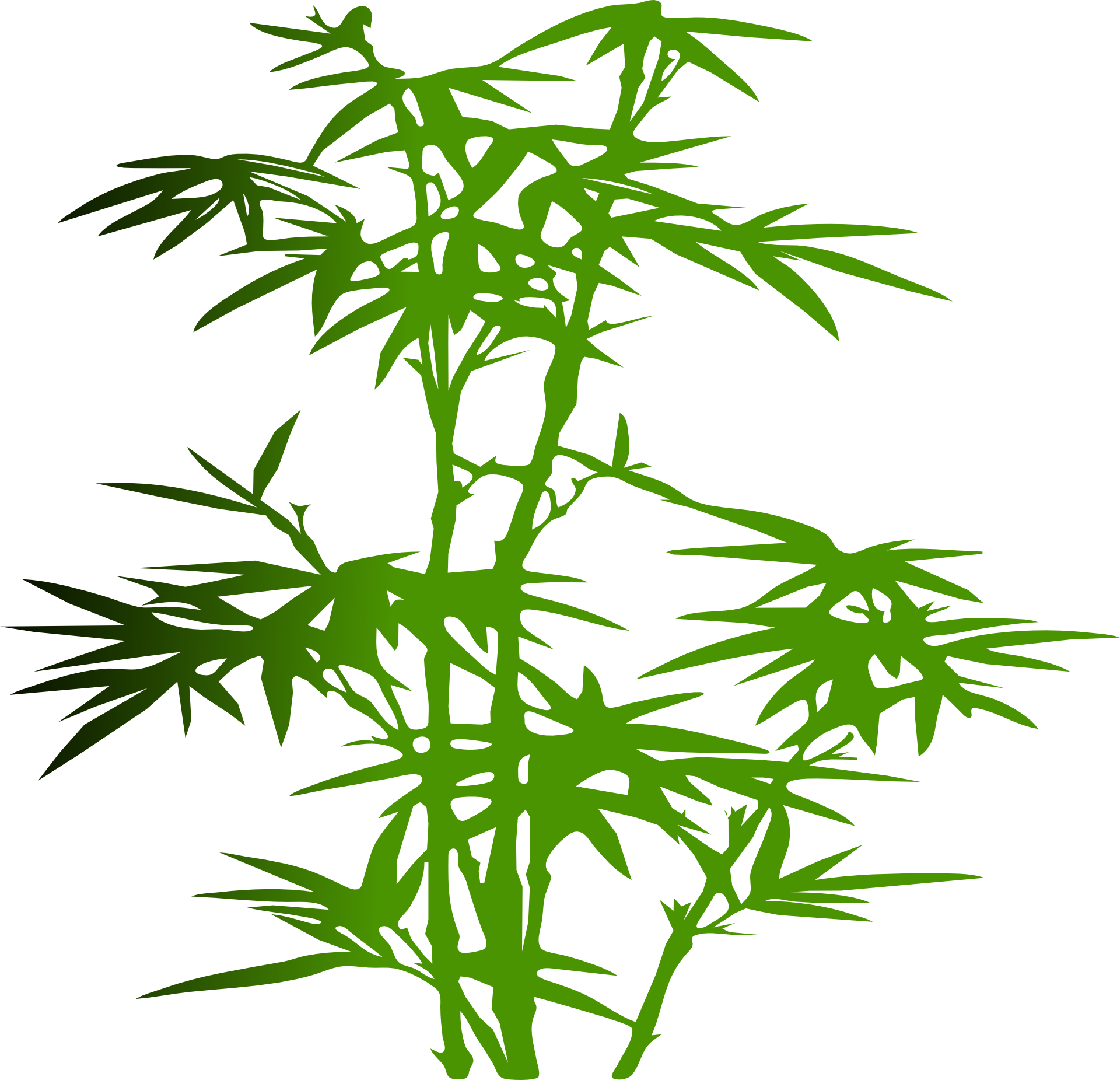Bamboo Silhouette Clip art.