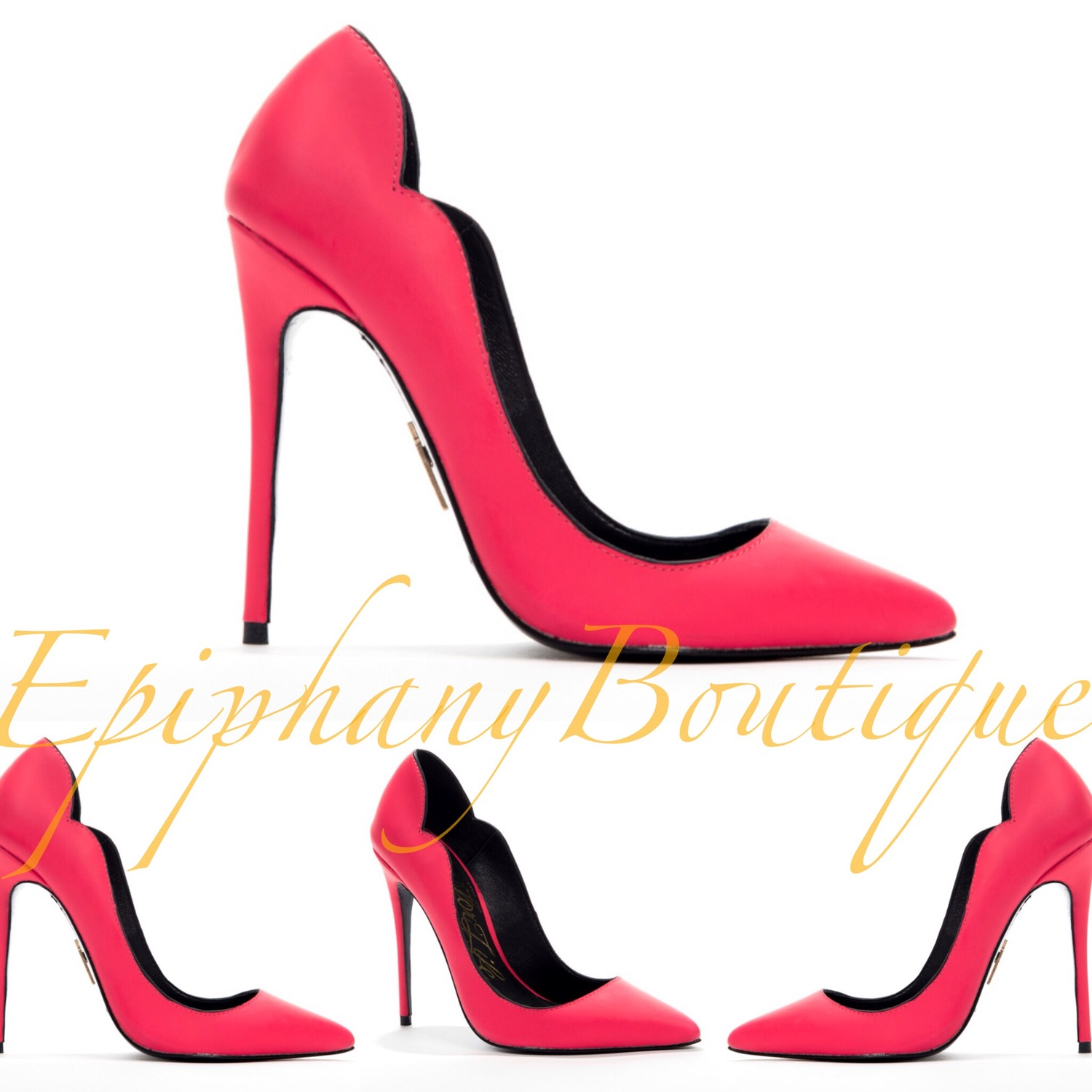 "Epiphany Boutique — The Lust For Life ""KASH"" Neon Coral Pump**ON."