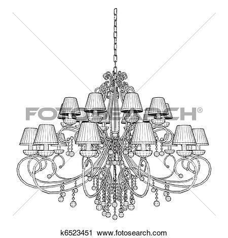 Clipart of Luster Chandelier k6523451.