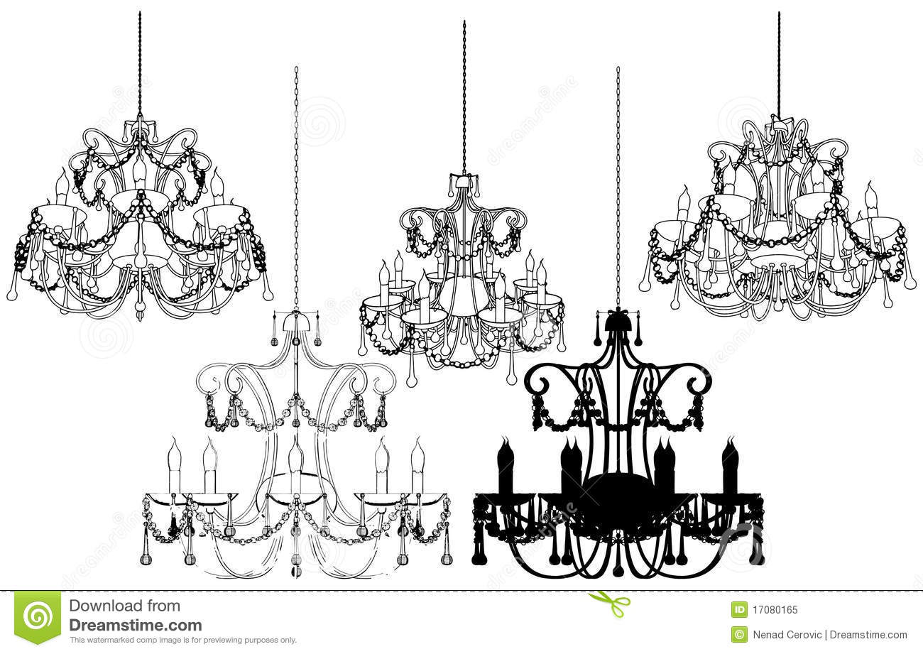 Luster Chandelier Vector 37 Royalty Free Stock Photo.
