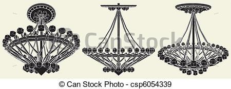 Vector Clip Art of Luster Chandelier Vector csp6523451.