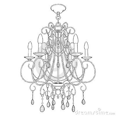Luster Chandelier Vector 10 Stock Images.