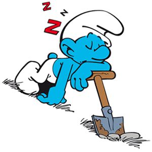 Lusti (Lazy Smurf).