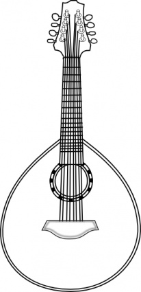 Lute clip art Free Vector.