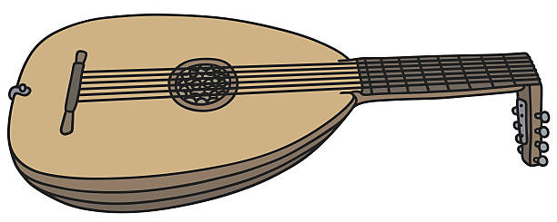 Lute Cartoon Clip Art, Vector Images & Illustrations.