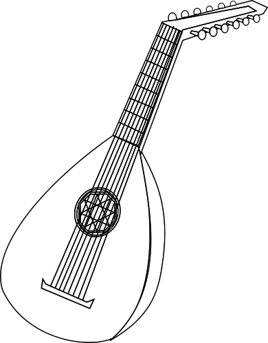 Vector illustration of lute.